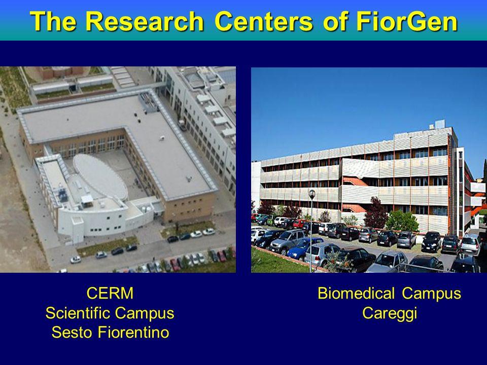 The Research Centers of FiorGen CERM Scientific Campus Sesto Fiorentino Biomedical Campus Careggi