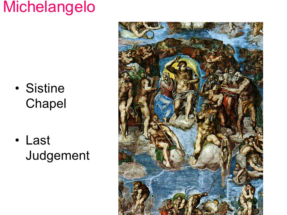 Michelangelo Sistine Chapel Last Judgement