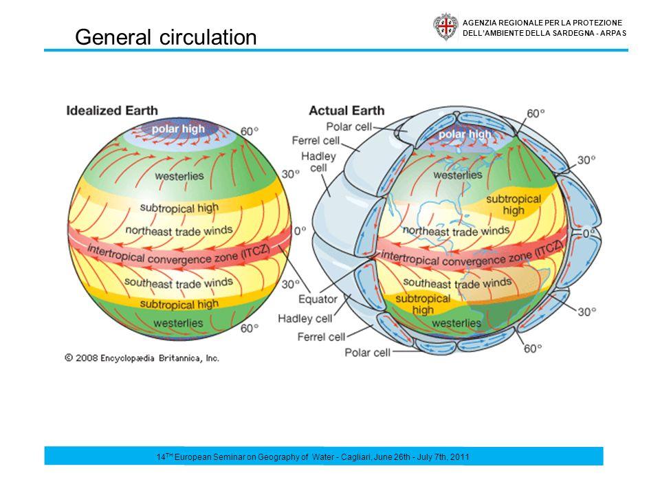 AGENZIA REGIONALE PER LA PROTEZIONE DELLAMBIENTE DELLA SARDEGNA - ARPAS Mediterranean basin is characterized by the highest frequency and concentration of cyclogenesis events.