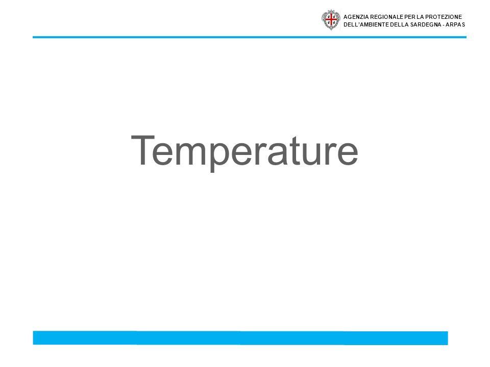 AGENZIA REGIONALE PER LA PROTEZIONE DELLAMBIENTE DELLA SARDEGNA - ARPAS Temperature