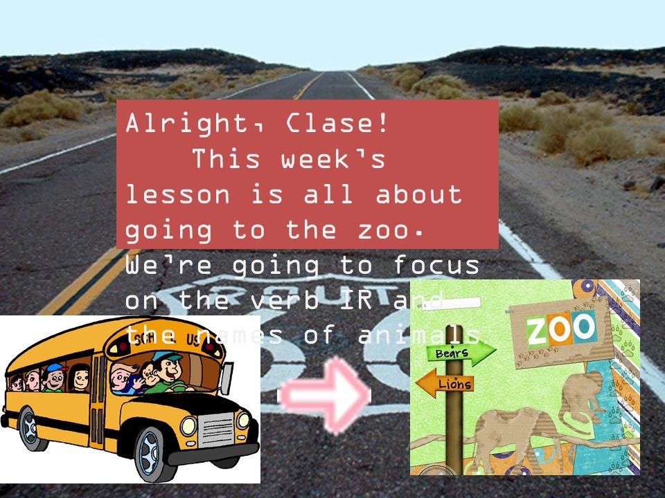 ¡Vamos a el Zoo! Señora Walters Leccion Numero 3 El zoo y IR