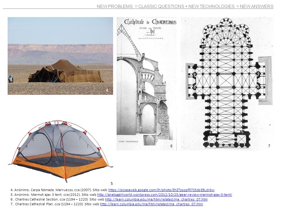 NEW PROBLEMS = CLASSIC QUESTIONS + NEW TECHNOLOGIES = NEW ANSWERS 4. Anónimo. Carpa Nómade Marruecos. cca (2007). Sitio web https://picasaweb.google.c