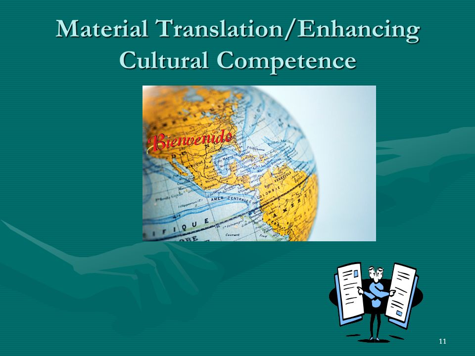 11 Material Translation/Enhancing Cultural Competence