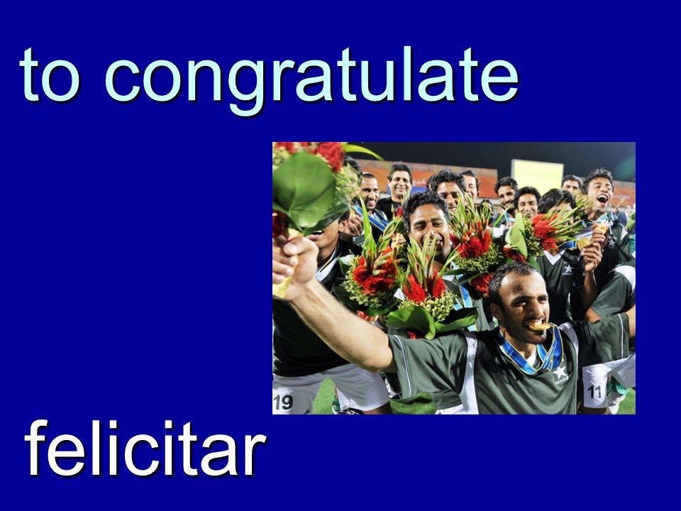 Congratulations! ¡Felicidades!