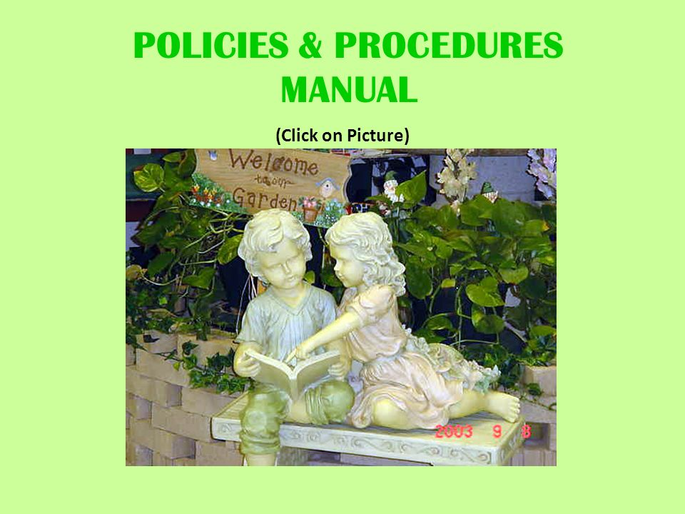 POLICIES & PROCEDURES MANUAL (Click on Picture)