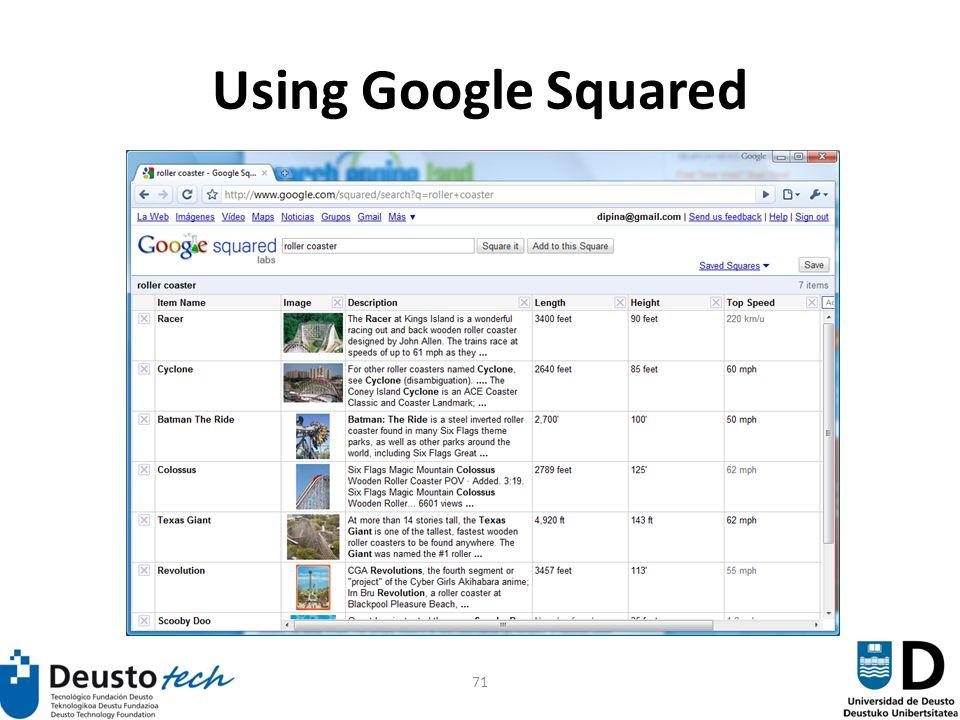 71 Using Google Squared