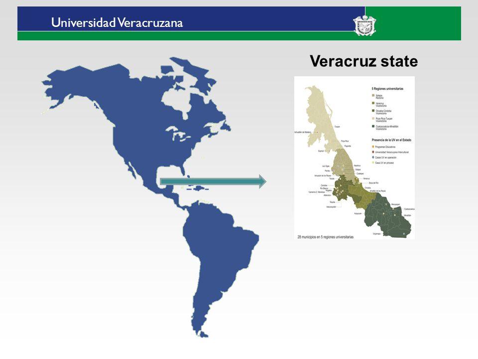 Universidad Veracruzana Universidad Veracruzanas Intercultural University Intercultural Regional Centers Huasteca (Ixhuatlán de Madero) Totonacapan (Espinal) Grandes Montañas (Tequila) Las Selvas (Huazuntlán municipio de Mecayapan)