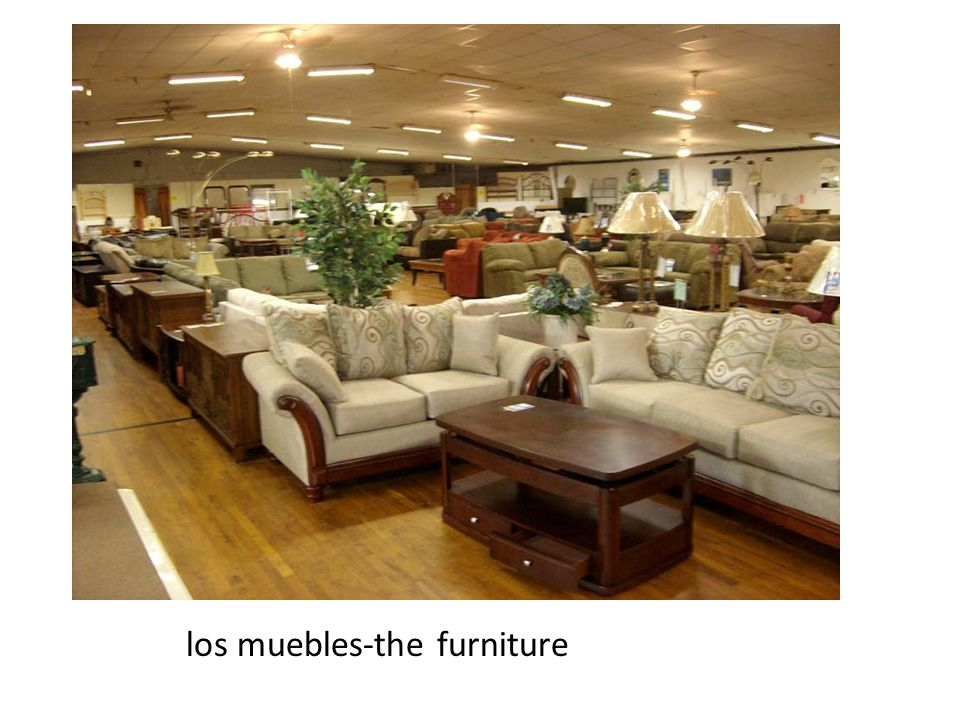 los muebles-the furniture