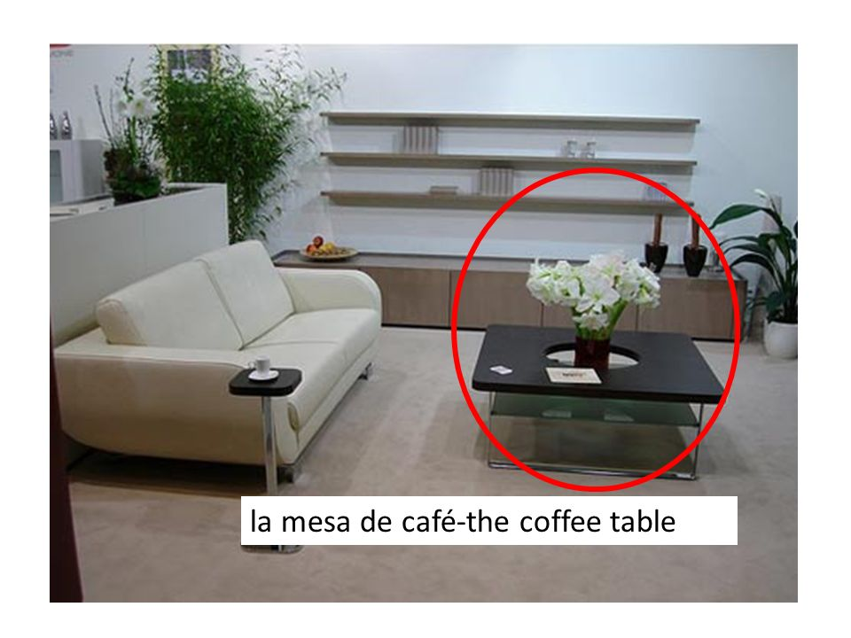 la mesa de café-the coffee table