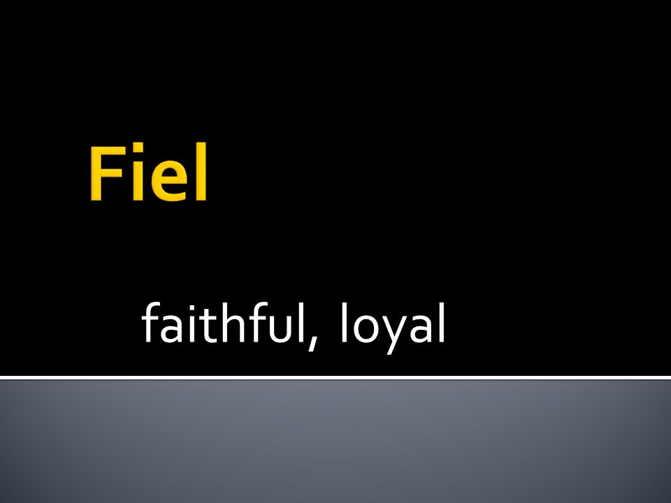 faithful, loyal