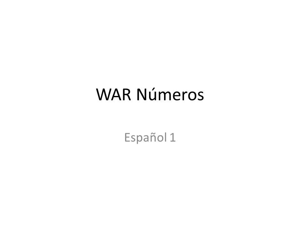 WAR Números Español 1