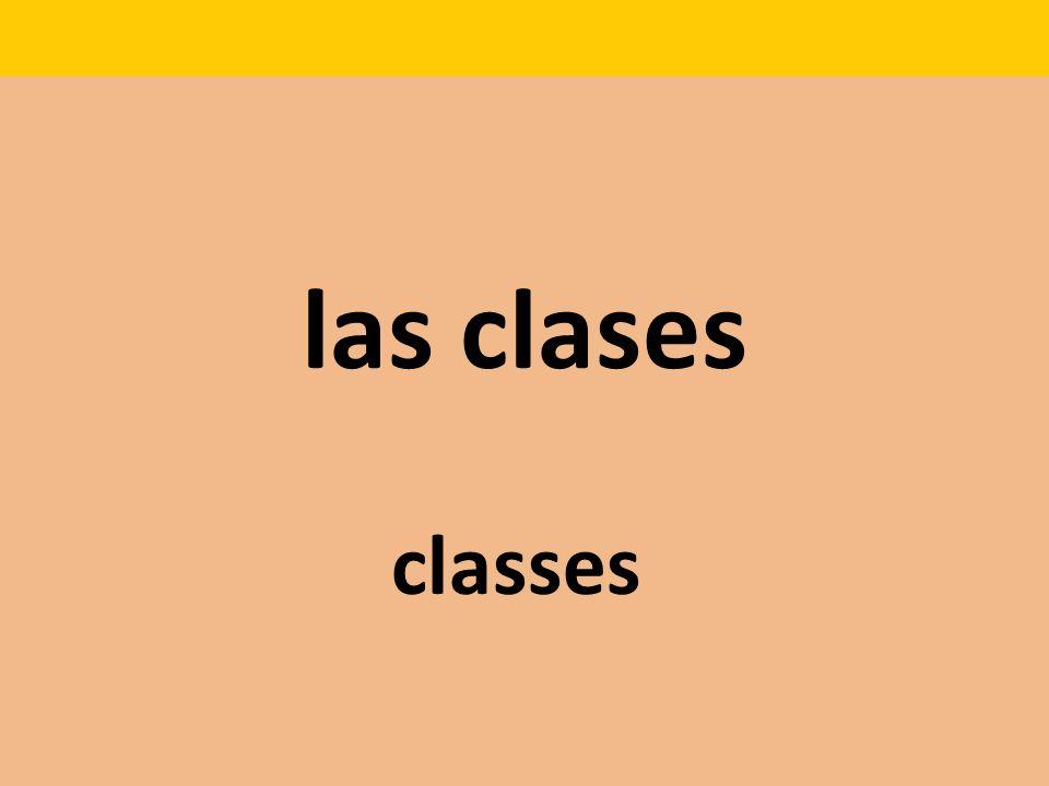 las clases classes