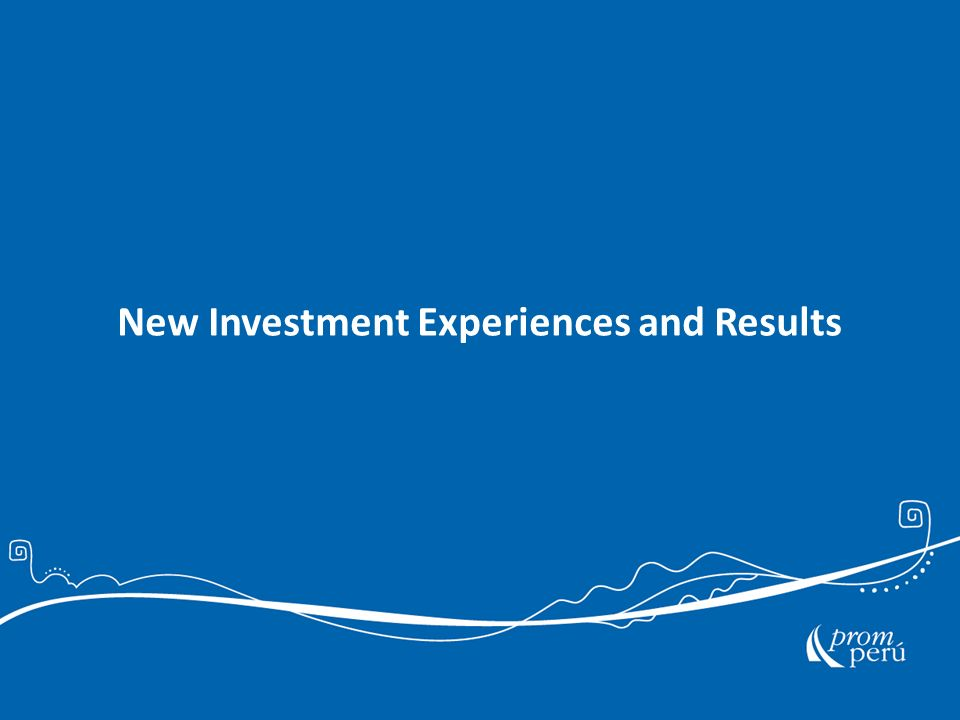 New Investment Experiences and Results