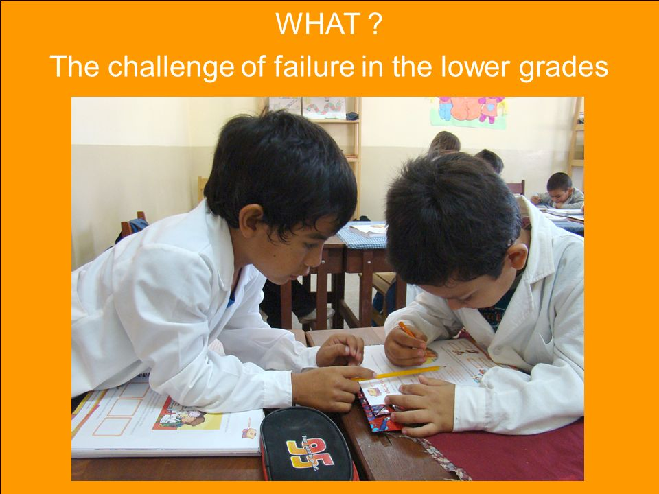 WHAT The challenge of failure in the lower grades
