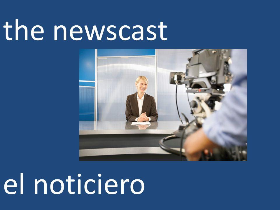 the newscast el noticiero
