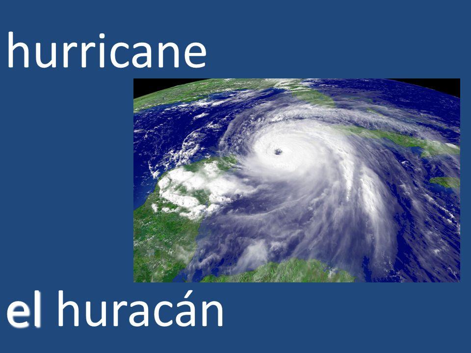 hurricane el el huracán
