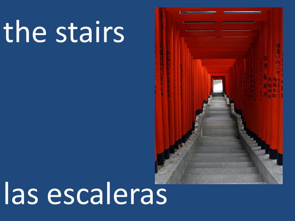 the stairs las escaleras