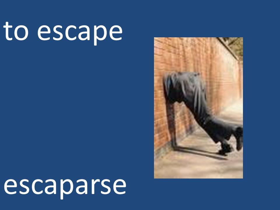 to escape escaparse