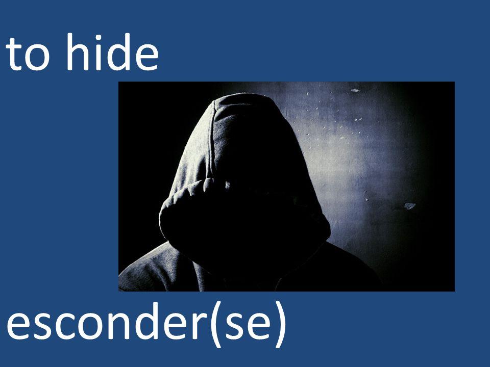 to hide esconder(se)