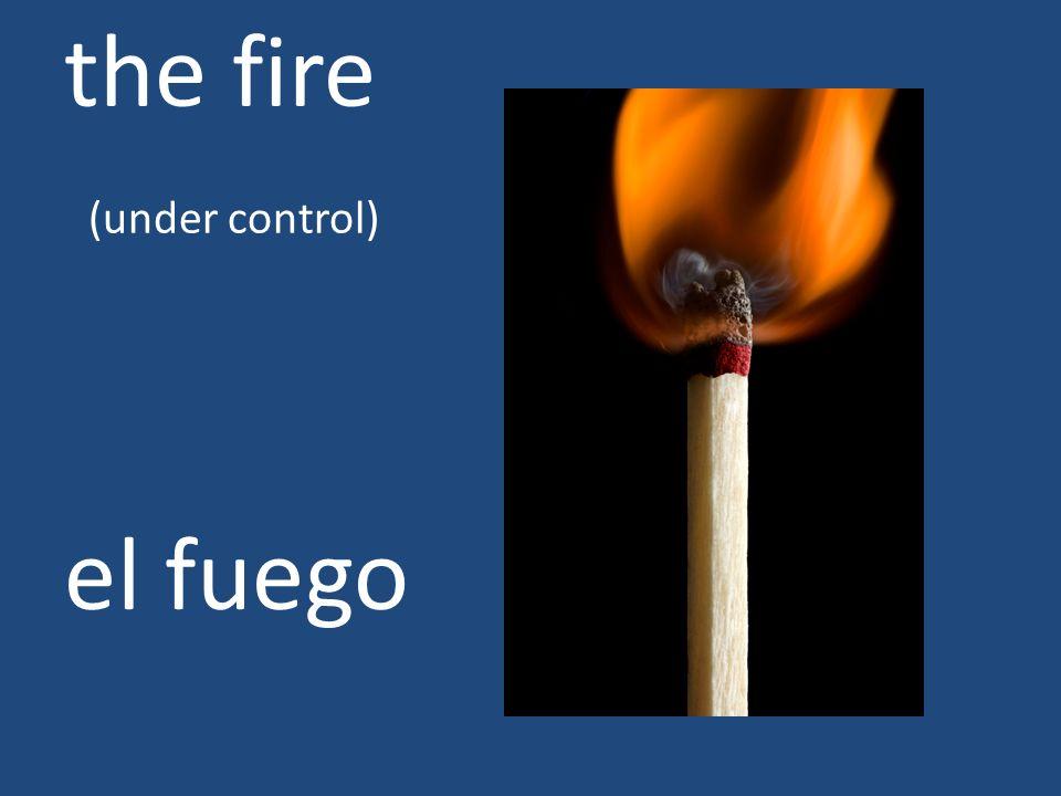 the fire (under control) el fuego