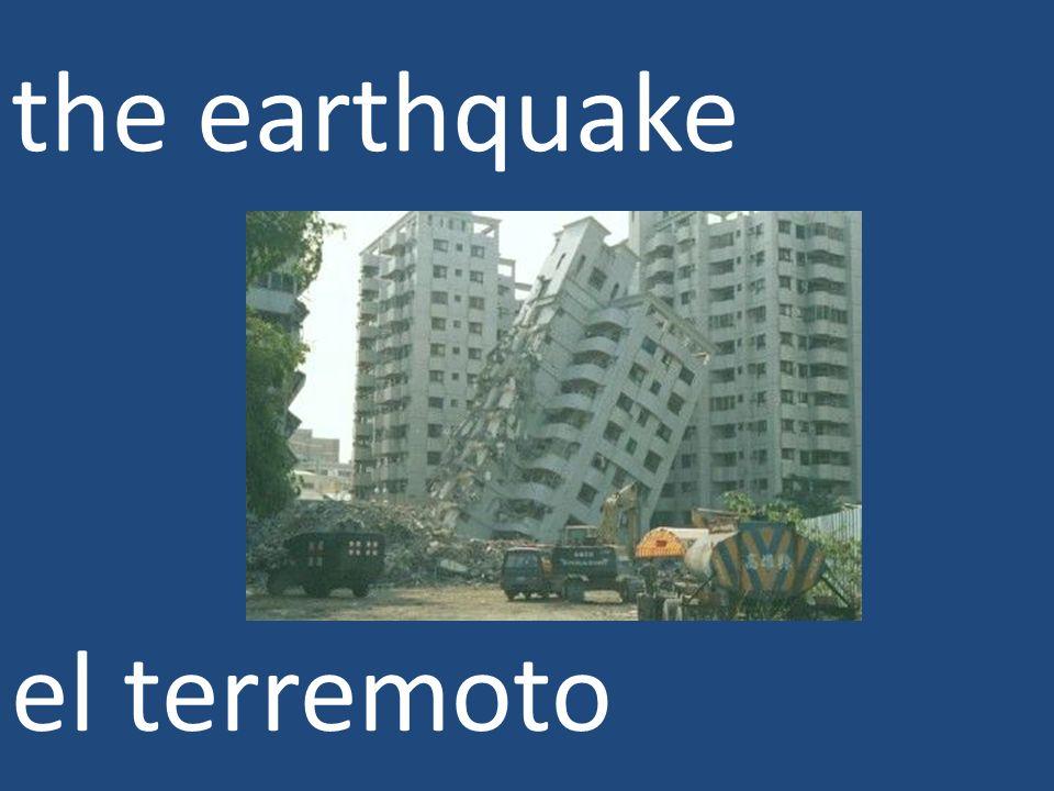 the earthquake el terremoto