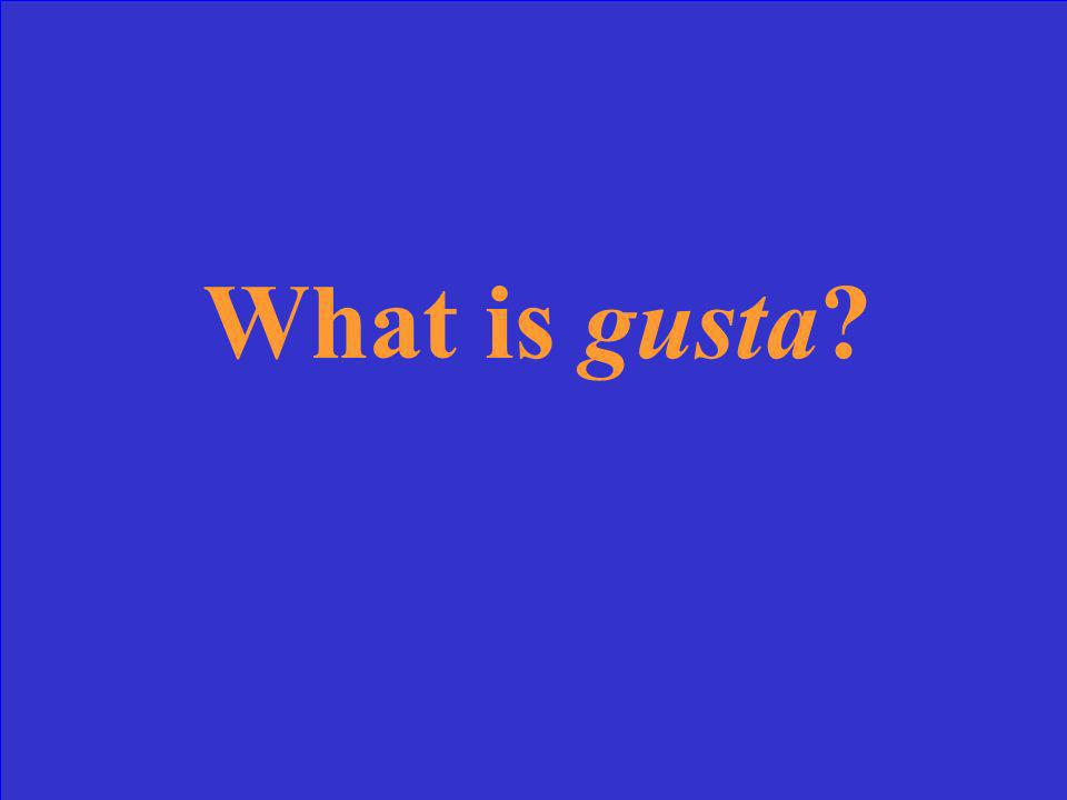 What form of gustar is used with singulary nouns?