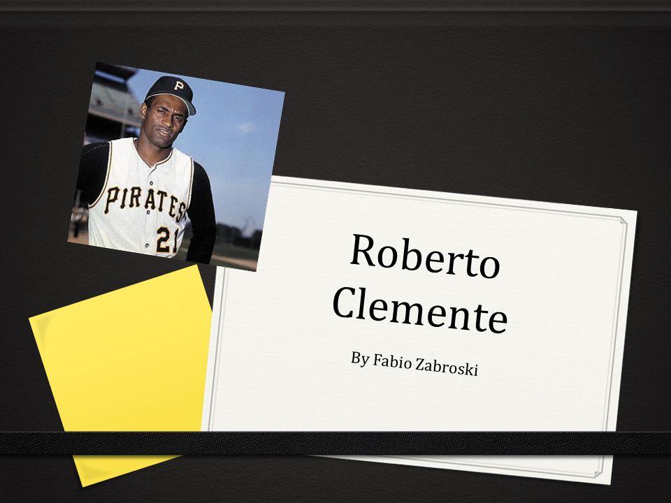 Roberto Clemente By Fabio Zabroski