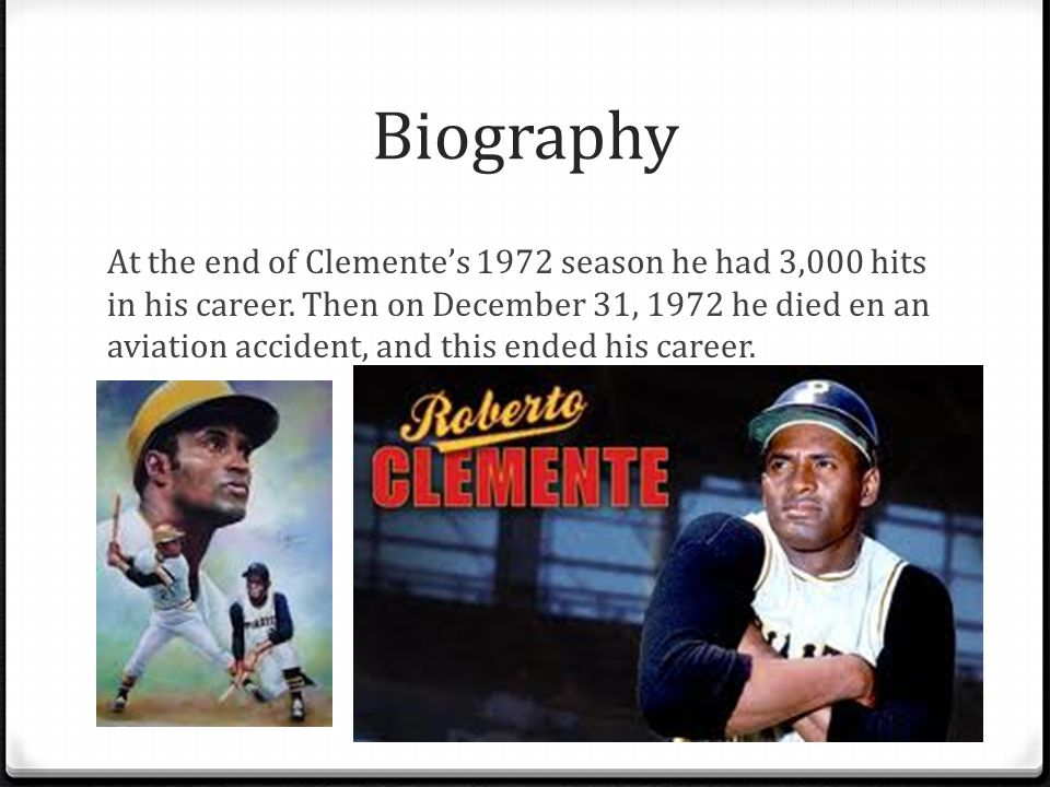 Biography At the end of Clementes 1972 season he had 3,000 hits in his career.