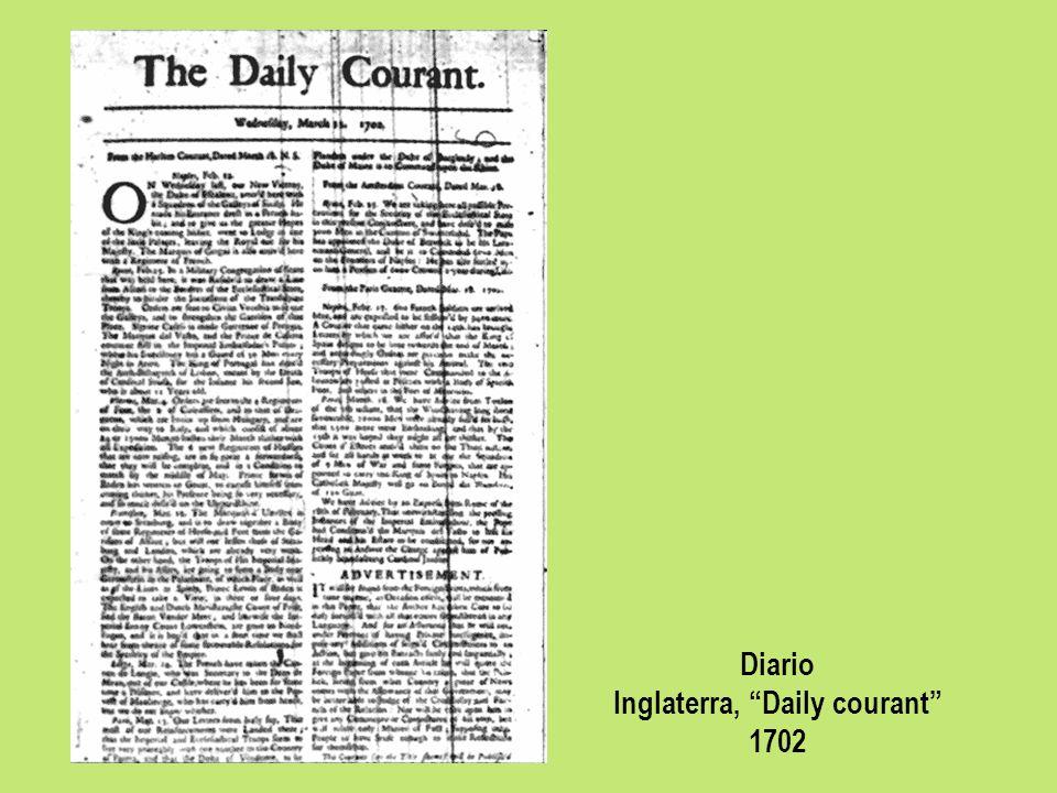 Diario Inglaterra, Daily courant 1702
