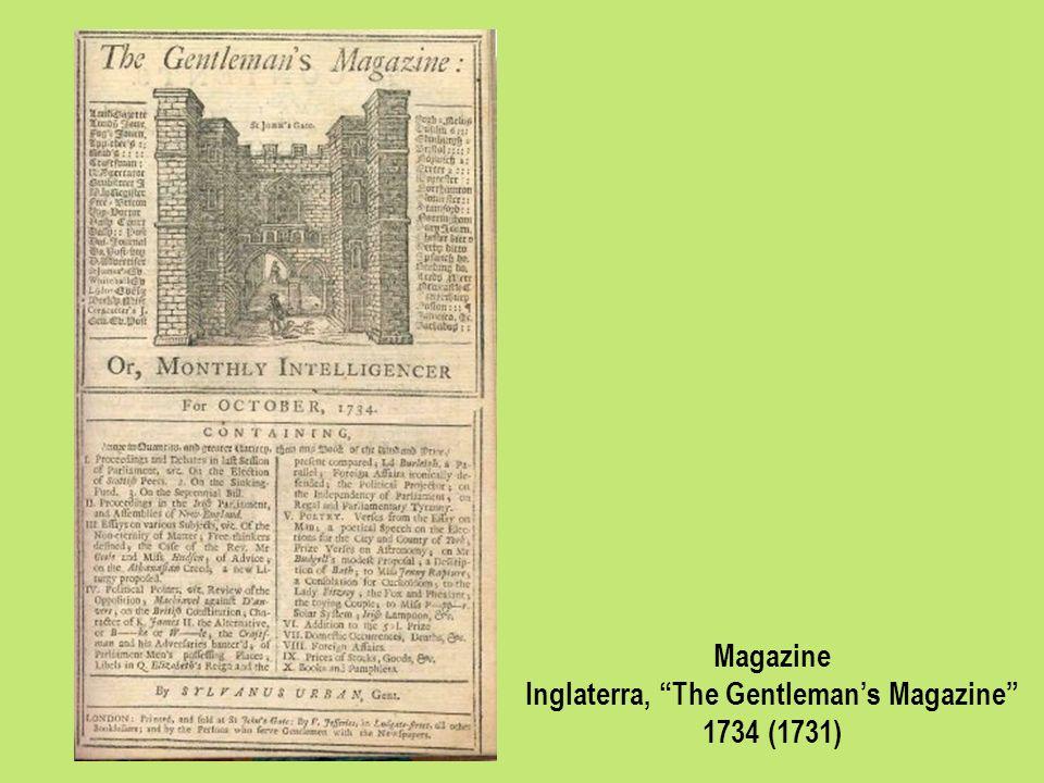 Magazine Inglaterra, The Gentlemans Magazine 1734 (1731)
