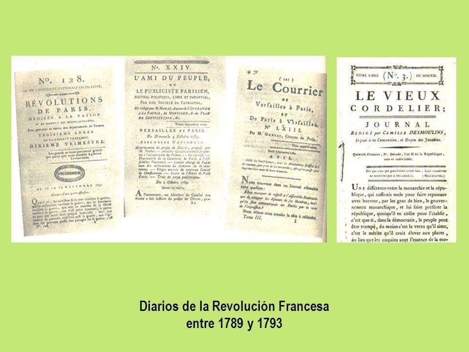 Diarios de la Revolución Francesa entre 1789 y 1793