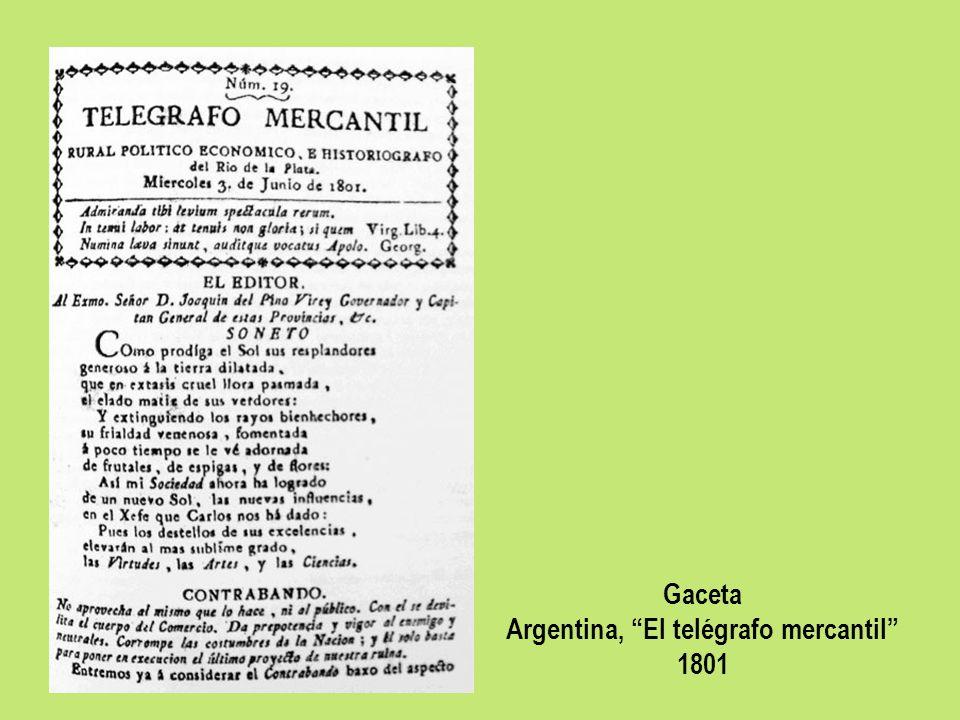Gaceta Argentina, El telégrafo mercantil 1801