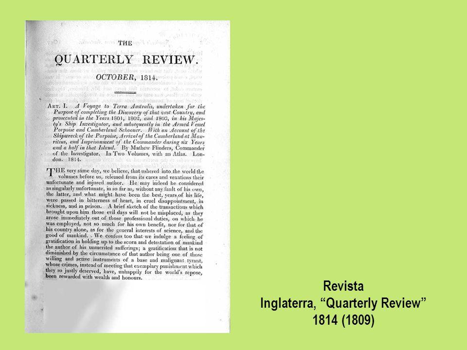 Revista Inglaterra, Quarterly Review 1814 (1809)