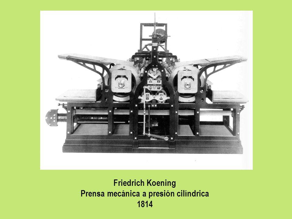 Friedrich Koening Prensa mecánica a presión cilíndrica 1814