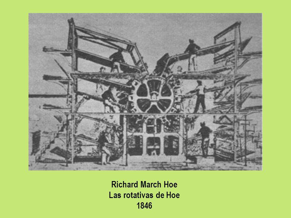 Richard March Hoe Las rotativas de Hoe 1846