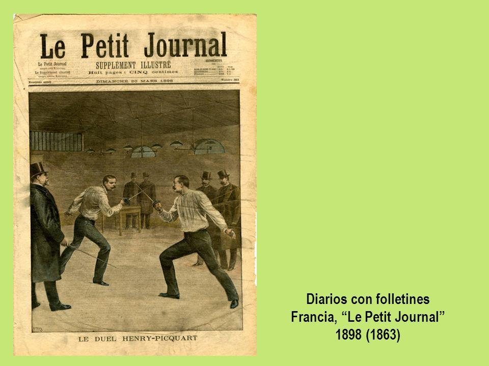 Diarios con folletines Francia, Le Petit Journal 1898 (1863)