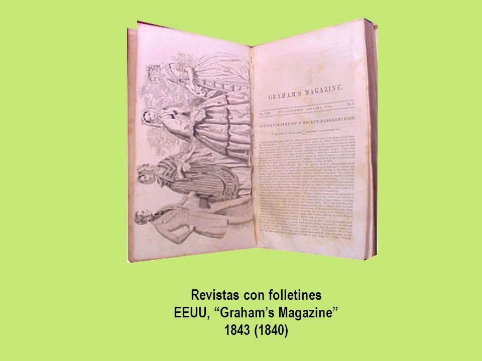 Revistas con folletines EEUU, Grahams Magazine 1843 (1840)