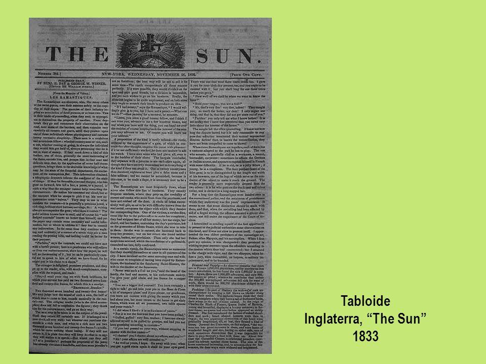 Tabloide Inglaterra, The Sun 1833
