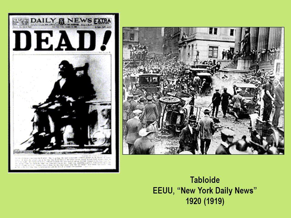 Tabloide EEUU, New York Daily News 1920 (1919)