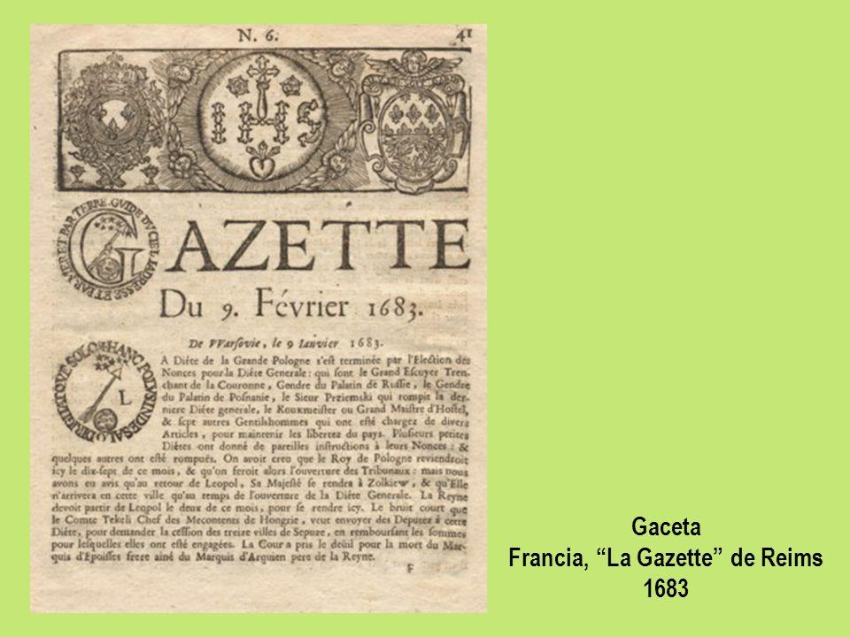 Gaceta Francia, La Gazette de Reims 1683