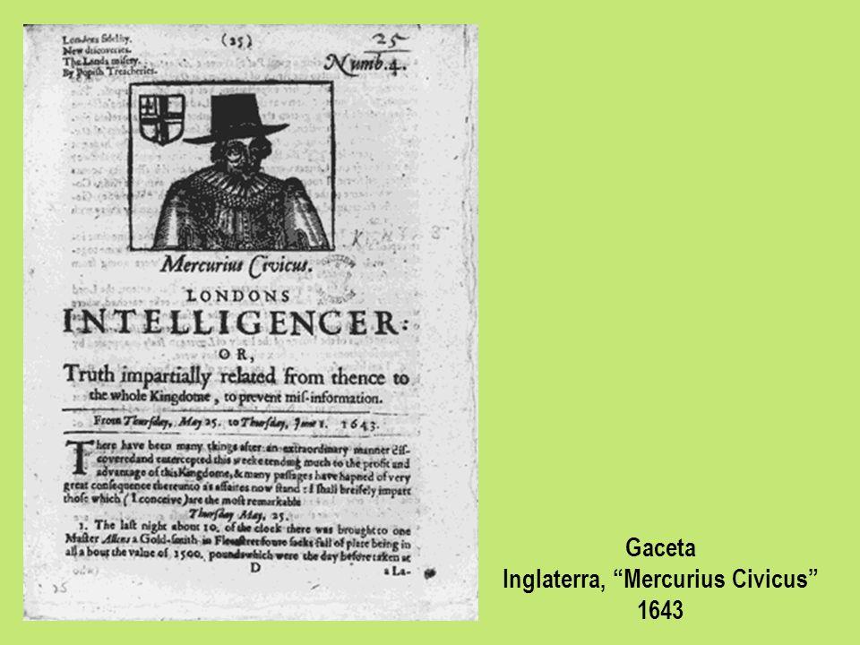 Gaceta Inglaterra, Mercurius Civicus 1643