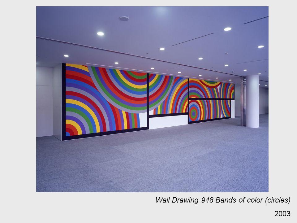 Wall Drawing 948 Bands of color (circles) 2003