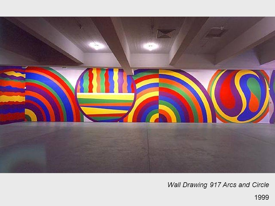 Wall Drawing 917 Arcs and Circle 1999
