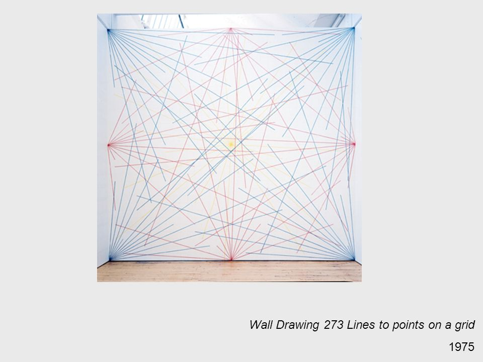 Wall Drawing 273 Lines to points on a grid 1975