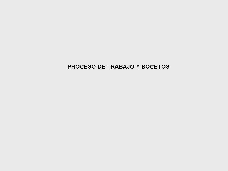 PROCESO DE TRABAJO Y BOCETOS