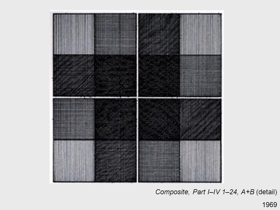 Composite, Part I–IV 1–24, A+B (detail) 1969