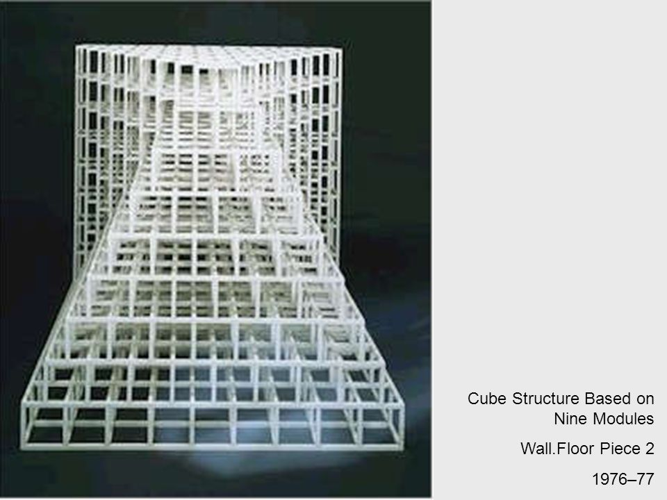 Cube Structure Based on Nine Modules Wall.Floor Piece 2 1976–77