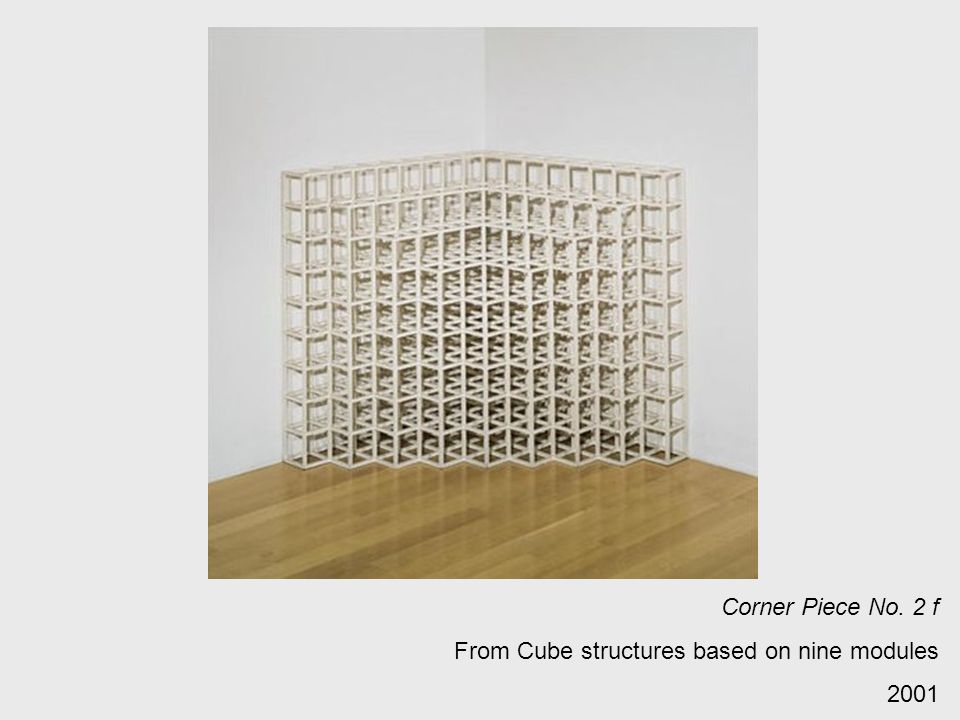 Corner Piece No. 2 f From Cube structures based on nine modules 2001
