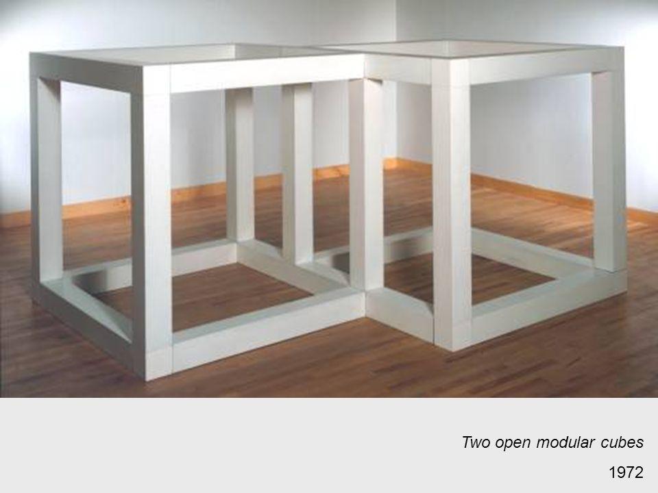 Two open modular cubes 1972
