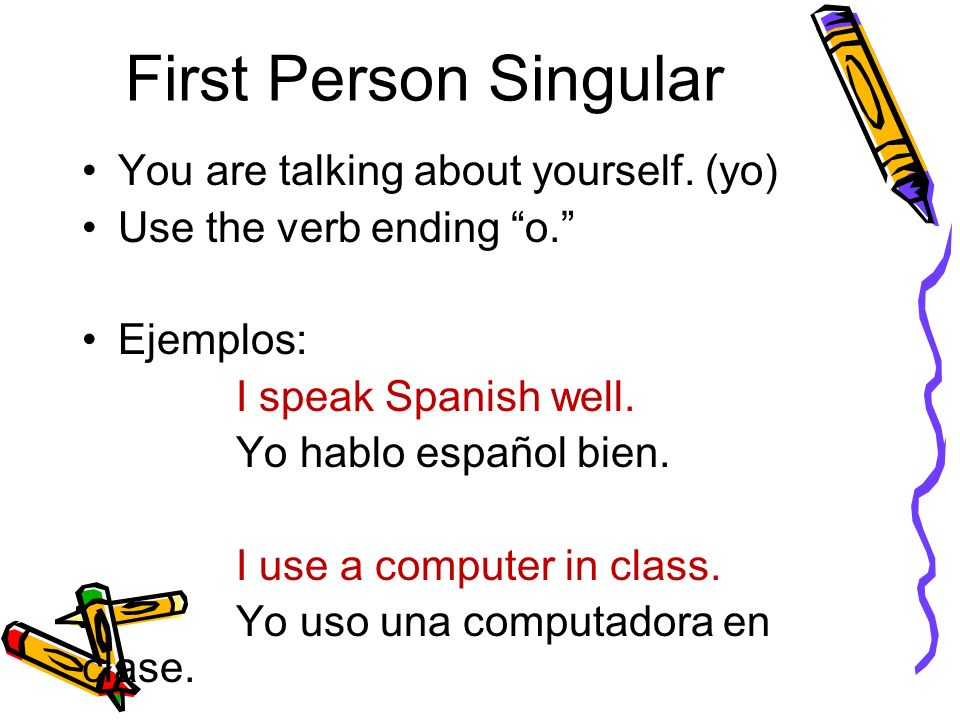 First Person Singular You are talking about yourself.